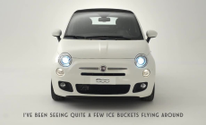 Fiat 500 takes on ALS Ice Bucket Challenge