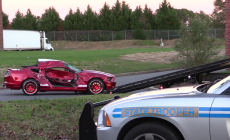 Shelby GT500 crashes into Brand New Truck