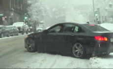BMW M5 winter