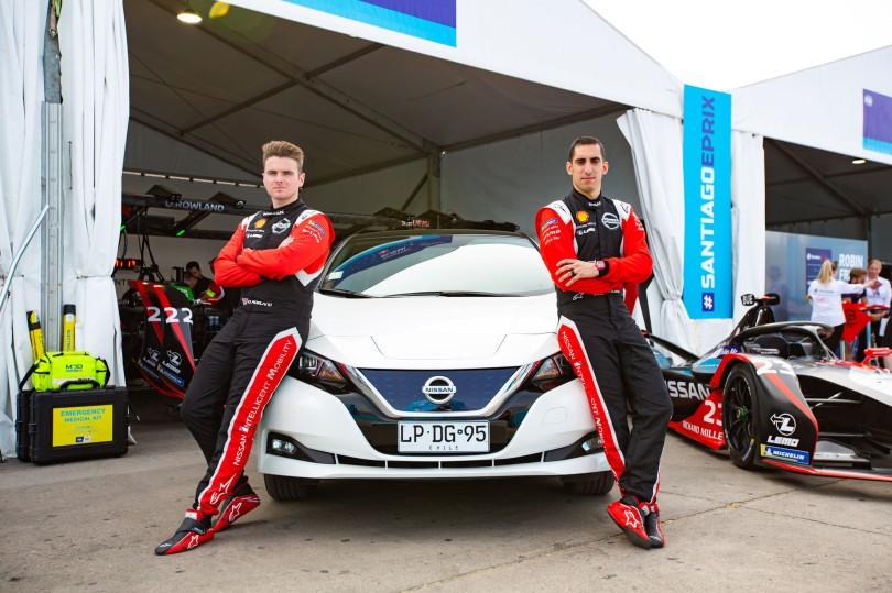 Nissan-Formula-E---Sebastien-Buemi-and-Oliver-Rowland-and-Nisssan-LEAF