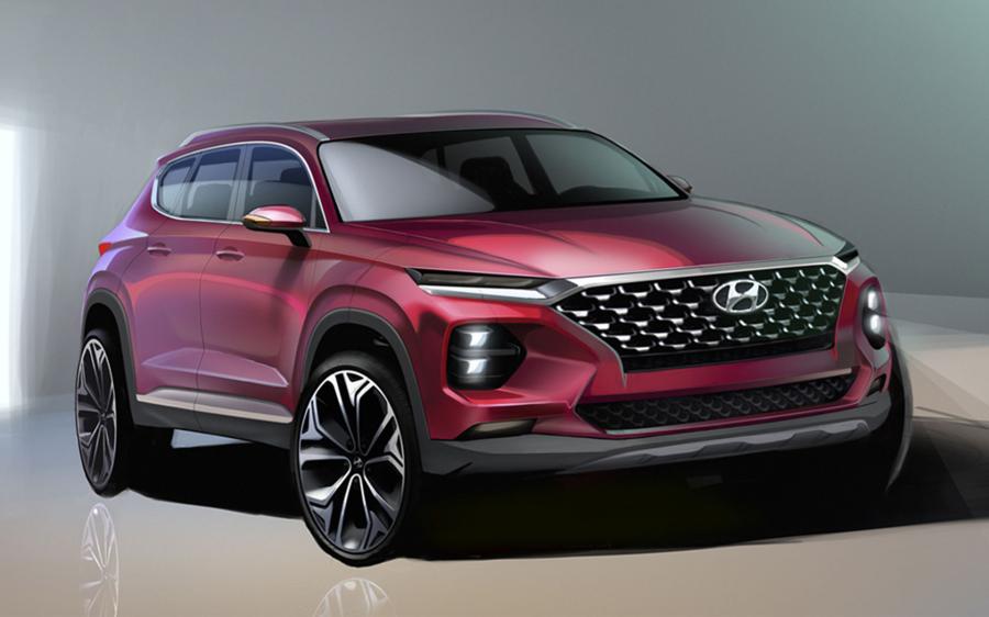 Τα πρώτα σκίτσα του νέου Hyundai Santa Fe