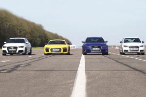 Όλα τα Audi στην πίστα… για μια κόντρα (video)