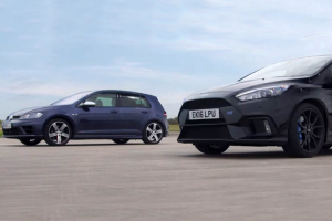 Κόντρα VW Golf R vs Ford Focus RS (video)