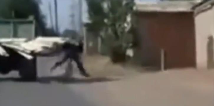 Video: Φορτηγό-χάρος βγήκε …παγανιά