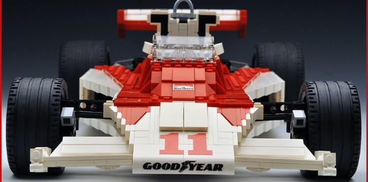 James Hunt από τουβλάκια Lego