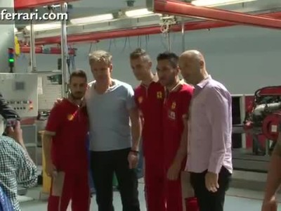 Gordon Ramsay visits Ferrari in Maranello.mp4