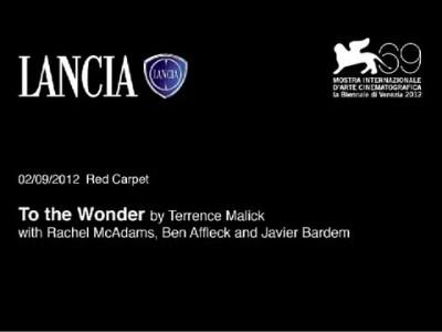 LANCIA @ VENICE FILM FESTIVAL 2012