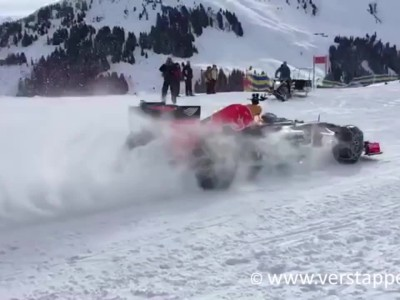 Max Verstappen F1 Snow Demo Red Bull RB7 Part 3
