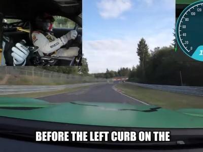 Καθοδηγεί με κλειστά τα μάτια σε όλο το  Nurburgring