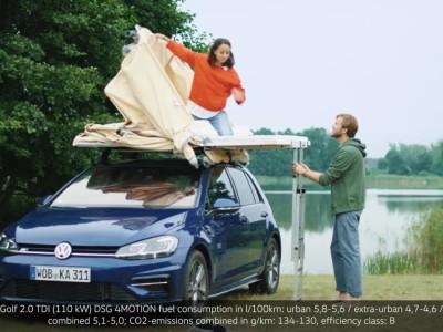Κάμπινγκ με το Volkswagen Golf