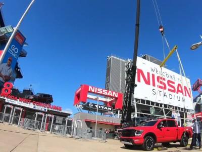Το νέο TITAN στην κορυφή του Nissan Stadium