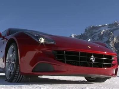 Ferrari FFs go slalom skiing